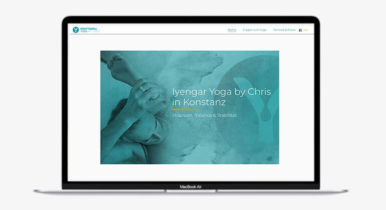 Website von Chris Pirchl Yoga in Konstanz